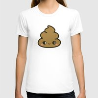 poop T-shirts featuring Cutey poop by peppermintpopuk