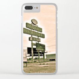 Abandoned Truck Stop Clear iPhone Case