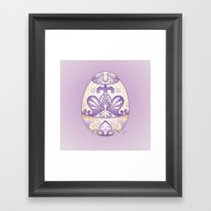 Lavender Egg Framed Art Print