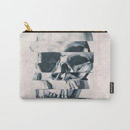 Glitch Skull Mono Carry-All Pouch