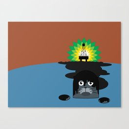 BP Oil Attack Canvas Print