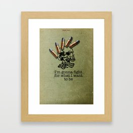 Punk Quotes Poster Serie / Fugazi Said : Fight Framed Art Print