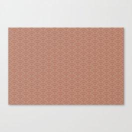 Sherwin Williams Canyon Clay Scallop Wave Pattern and Polka Dots Canvas Print