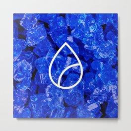 Lapis Lazuli Candy Gem Metal Print