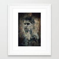 winchester Framed Art Prints featuring Dean Winchester by Sirenphotos