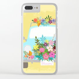 Bloom Where You Are Planted Clear iPhone Case