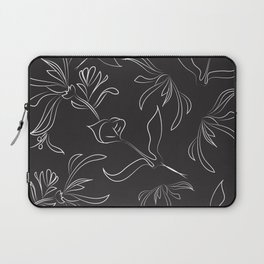 Hand Drawn Floral Laptop Sleeve