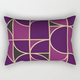 Art Deco Morning Dance In Purple In Big Scale Rectangular Pillow