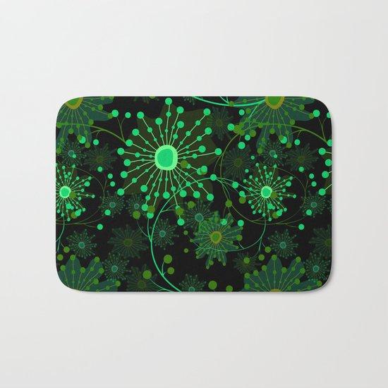 Black and green abstract pattern . Bath Mat