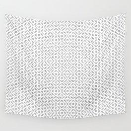 Persimmon Hitomezashi Sashiko - Black on White Wall Tapestry
