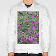 Wild Flowers in Purple and Yellow Hoody