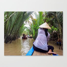 Tributary of the Mekong Delta Canvas Print