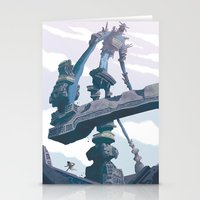 shadow of the colossus Stationery Cards featuring Shadow of the Colossus  by Felo
