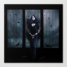 Lady of Crows Canvas Print