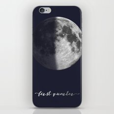 First Quarter Moon on Navy English iPhone Skin