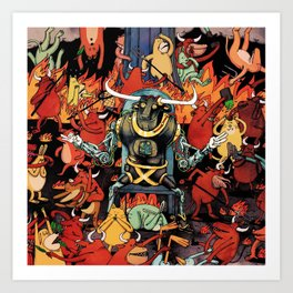 gavin dance after burner 2021 Art Print
