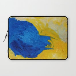 Blue in Yellow Laptop Sleeve