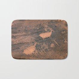 Desert Rock Art - Petroglyphs - II Bath Mat