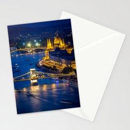Budapest Night City Stationery Cards