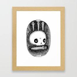 Four of Knives Skeleton Tarot Framed Art Print