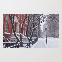 Snow Streets, Washington Square North Rug