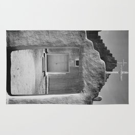 Ansel Adams - Taos Pueblo Church Rug