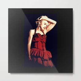 Madonna in Red Metal Print