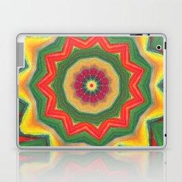 mandala yellow/green Laptop & iPad Skin