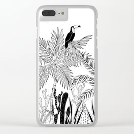Toucan in the jungle. Clear iPhone Case