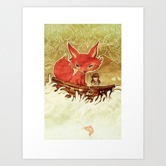 Fox Boat Art Print