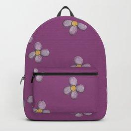 Purple Flower on Purple Pattern Backpack