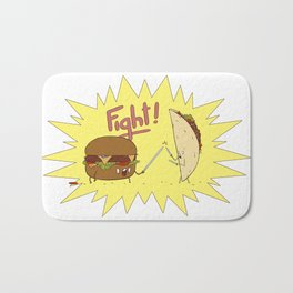 Food Fight ! Bath Mat