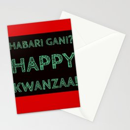 Habari Gani? Happy Kwanzaa! Stationery Cards