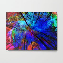 Colorful forest Metal Print