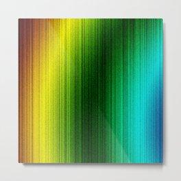 multicolor tv fuzz Metal Print