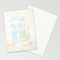 Cat Smelling Flower Stationery Cards