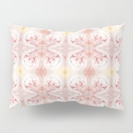 Shabby Chic Peach with White and Yellow Pillow Sham