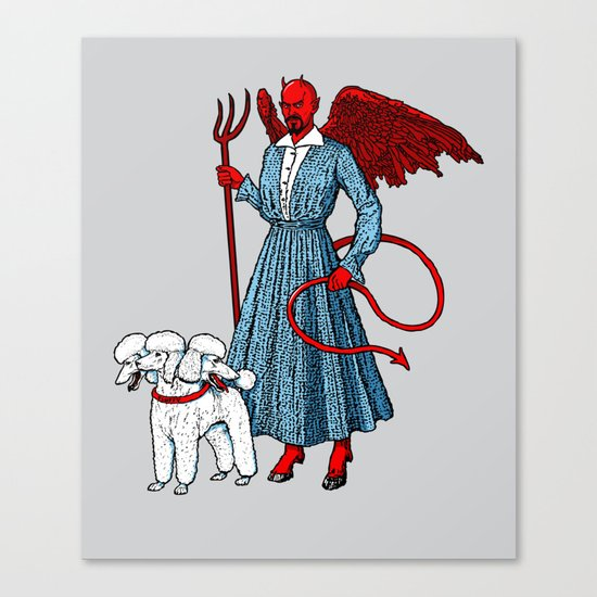 Devil With A Blue Dress On Canvas Print