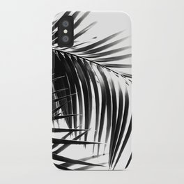Palm Leaves Black & White Vibes #3 #tropical #decor #art #society6 iPhone Case