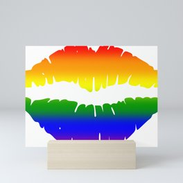 Rainbow Lips (LGBT, LGBTQ) Mini Art Print