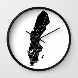 The Swedish landscapes - whitish Wall Clock