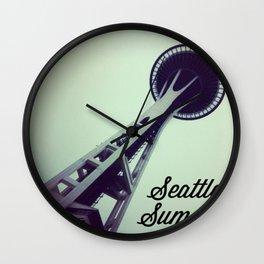 Seattle Summer Wall Clock