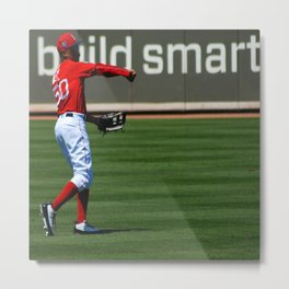 Love Baseball Metal Print