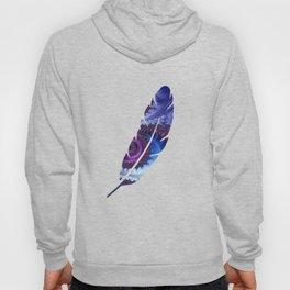 Feathery Flow Feather Cutout - Fractal Art Hoody