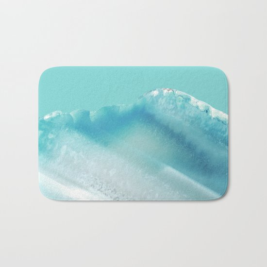 Geode Crystal Turquoise Blue Bath Mat