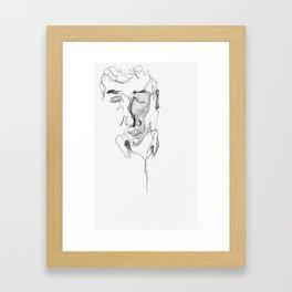 kafka reader Framed Art Print