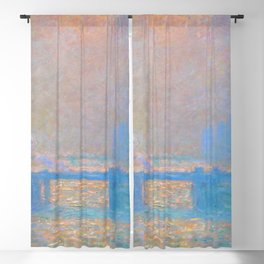 "Claude Monet ""Charing Cross Bridge, The Thames"" (1903) Blackout Curtain"