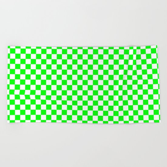 Checker (Green/White) Beach Towel