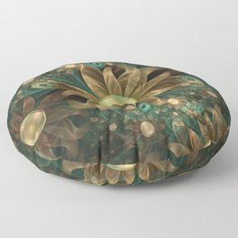 Shining Gems Blooming as Bronze and Copper Flowers Floor Pillow