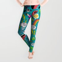 party Leggings featuring Monster Party by Chris Piascik